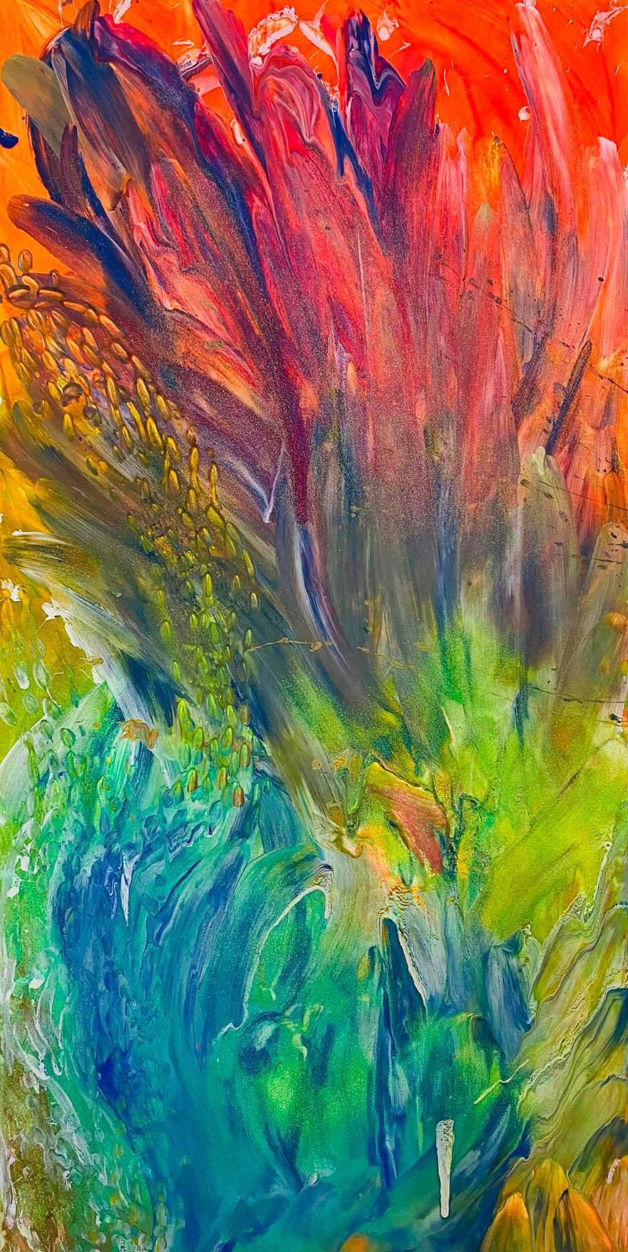 Eden 50x100 cm Tempera e glitter su tela - Noah