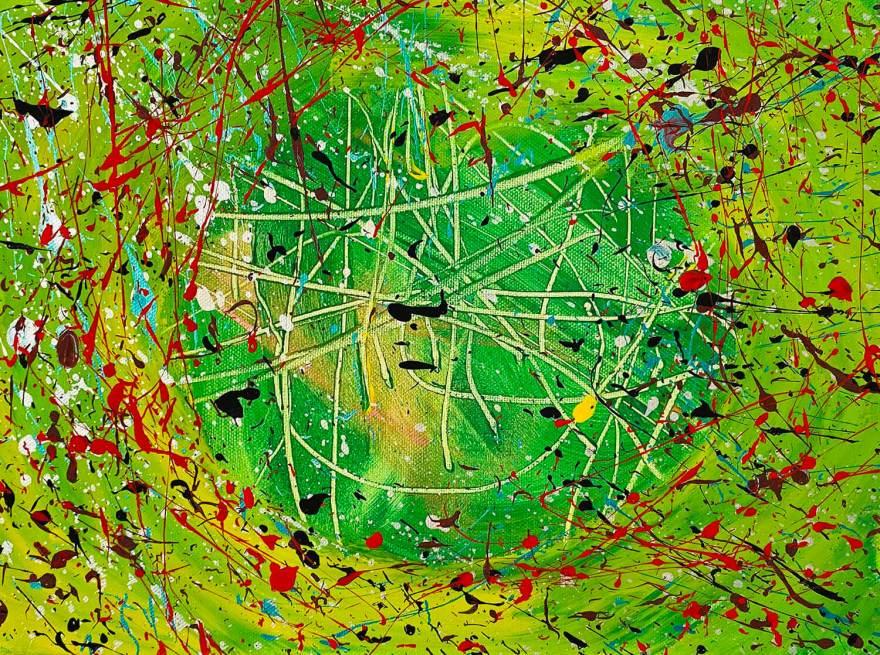 Vista aerea 20x30 cm Tempera su tela - Noah