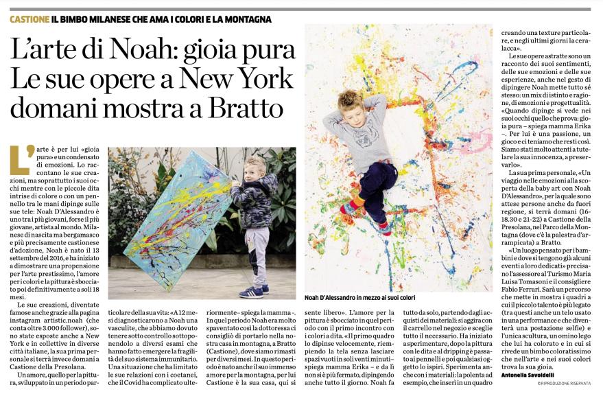 Eco di Bergamo mostra d'arte